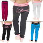 New Womens Ladies American Sport Tracksuit Jogging Bottoms Joggers Size 8 10 12