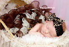 Baby Girl Leopard Waist Beige Brown Layer Petal Pettiskirt with Brown Bow NB-8Y