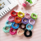 10 PCS in 1 Set Fashion Candy Women Girls Thin Elastic Hair Bands Accessories