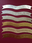 76 FOILED ALL OCCASION GREETINGS BANNERS CARD MAKING SCRAPBOOKING EMBELLISHMENTS