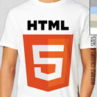 HTML 5 T-Shirt. Multiple Colour/Size. Web Designer Computer Geek Superhero HTML5