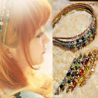 Women Daily Retro Rhinestone Crystal Headband Barrette Hairpin Hairgrip Clips
