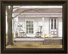 THE LONG WAIT by Billy Jacobs FRAMED PRINT 15x19 Farm House Dog Porch PICTURE