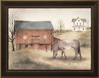 THE OLD GREY MARE by Billy Jacobs FRAMED ART PRINT 15x19 Farm Barn Horse PICTURE