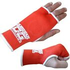 RED THUMBLESS MUAY THAI INNER GLOVES BOXING FIST PROTECTIVE
