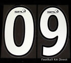 Scottish Premier League Football Shirt Numbers SPL White