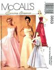 2002 Evening Elegance Wedding Top Skirt Pattern Choice 6-22 McCall's 3853 OOP