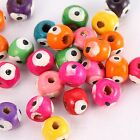 200/1000pcs Wood Round Spacer Beads Colorful Jewelry  DIY Beads 7x8mm LP8743