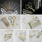 9 Styles 3 Tier Silver/Gold Metal Cake Plate Stand Centre Handle Set + Fittings