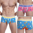 2013 NEW Sexy Men's Cotton Dots Underwear Boxer Briefs Shorts Comfy In Size XS~L
