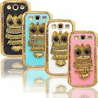 New 3D Bling Owl Case for Samsung Galaxy S3 i747 Rhinestones Fancy Hard Cover
