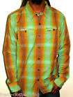 LOST Button Up New $52 Coalition Mens Plaid Shirt Choose Size