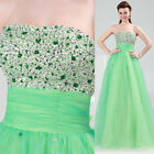 Sexy Empire Beaded Shin Formal Cocktail Ball Gown Evening Prom Party Long Dress