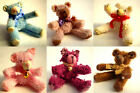 Doll House Miniature Teddy Bear 6 colours to choose from 1/12th scale nursery