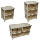 2 3 Or 4 Drawers Unit Maize White Natural Wood Storage Bathroom Bedroom By JVL