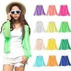 Fashion Women Summer Ultra-thin Long Sleeve Sunscreen Hooded Cardigan Outer