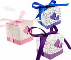 50/100 Wedding Party Favors Heart Shape Gift Ribbons Candy Boxes Q148 150
