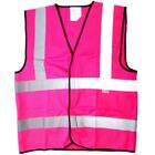 HI VIZ COLOURED VEST WAISTCOATS Pink Red Purple Green Blue Yellow Orange Sml-5XL