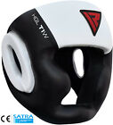 RDX Cow Leather No Impact Head Guard Helmet Boxing MMA Martial Arts Gear Kick AB