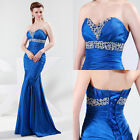 Empire Waist Sexy  Beads Formal Cocktail Ball Gown Evening Prom Party Long Dress