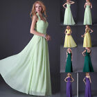 STOCK 4 Styles New  Prom Long Formal Wedding Bridesmaid Party Ball Evening Dress