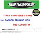 RON THOMPSON 2pc TYRAN NANO MANIE CARBON ROD SERIES LURE SPINNING PIKE BASS