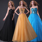 Shining Sequins NEW Bridesmaid Formal Cocktail Evening Tulle Long Party Dresses