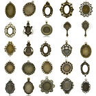 Cabochon New Setting Pendants Bronze Tone M1415