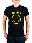 Nirvana Black Smile T-Shirt Front and Back Graphics SIZES MEDIUM AND LARGE ONLY!