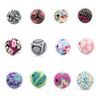 "Polymer Clay Spacer Beads Flower Pattern Round Ball 10mm( 3/8"") Dia.M1165"