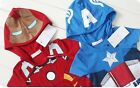 W047 Baby Boy Ironman American Captain Custom Romper One-Piece Bodysuit 6-18M