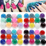 12 Pot Nail Art Pure Colors Solid Builder UV Gel Set Shiny Cover Manicure Decor
