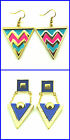Fashion Large Triangle Design Earrings 3 Colours
