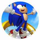 Sonic the Hedgehog Personalised Edible Rice/Icing Cake Topper 7.5 inch Circle