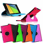 2013 Google New Nexus 7 FHD 2nd Gen Tablet Rotating PU Leather Smart Case Cover