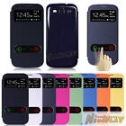 Leather Flip Battery Cover Case Smart Window View For Samsung Galaxy S3 i9300