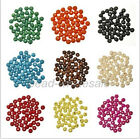 New 300pcs Round Wood Ball Spacer Loose Beads 7*8mm for Jewelry 9 colors U pick