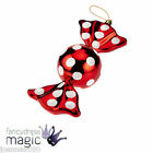 *LARGE 20CM RED AND WHITE CANDY SWEETIE SWEETS CHRISTMAS TREE BAUBLE DECORATION*