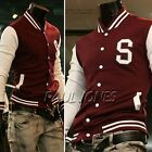 Top Design Men's Letterman Baseball Hoodies Jacket coat Sweater Outerwear Hoody