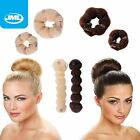 JML Hot Buns Magic Hair Styling Doughnut Donut Bun Ring Shaper Former Maker 2PC