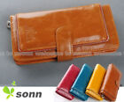 Cool Zipper Decorated Lady Women Long Wallet Purse Coin Bag Card Holder