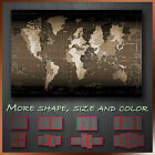 Map of World Time Zone Sepia Abstract Contemporary Canvas Art Deco ~ More Sizes