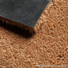 Quality Coir Matting, CHEAP Heavy Duty 17mm Beige Entrance Roll, 1m & 2m Wide