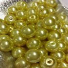 200 x 4mm / 100 x 6mm / 50 x 8mm Glass Pearl Beads - Various Colour <br/> BUY 4 GET 1 FREE in same invoice. Add any 5 to qualify.