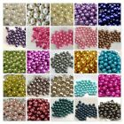 200x 4mm / 100x 6mm / 50x 8mm Glass Pearl Beads - Various Colour