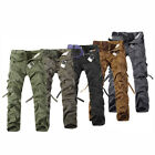 Hot Sale Korean Casual Loose Mens Straight Leg Pockets Pants w/o belt 6 Colors