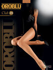 CLUB 20 DEN OROBLU LEGWEAR TIGHTS MODA FASHION  COLLANT VELATO TUTTONUDO