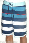 Quiksilver Shorts New Mens Brigg Scallop Blue Stripe Water Surf Choose Size