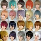 13 Colors heat resistant ramp bang Short lady's Hair Cosplay Full Wig A-141