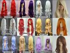 Promotion! 80cm 12 Colors Heat Resistant Long Curly Cosplay Full Wig A-142